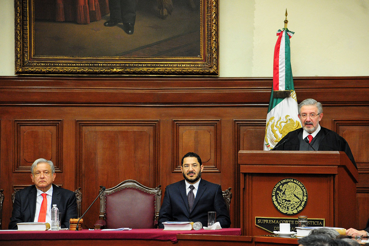 Luis María Aguilar, SCJN, AMLO, Ley de Remuneraciones, salarios, Poder Judicial,