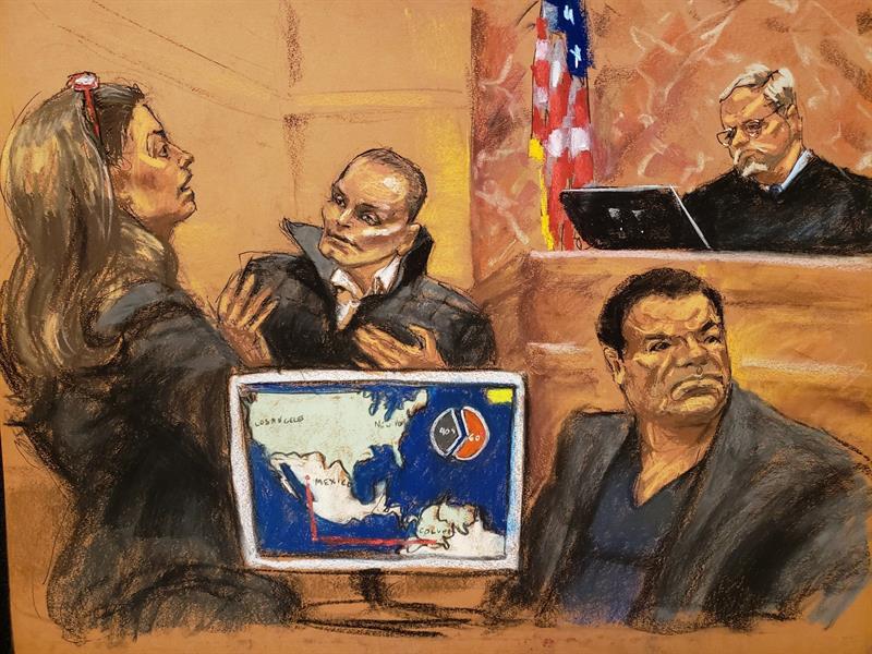 Chapo Guzmán, juicio, narcotráfico