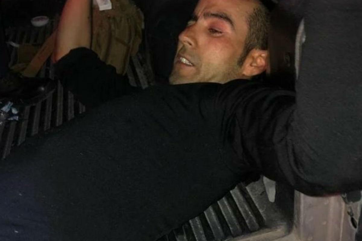 El ladrón recibió dos disparos en las piernas (De Twitter)