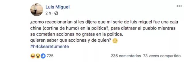 Luis Miguel facebook