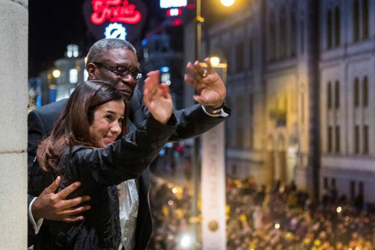 Murad y Mukwege piden justicia contra abusos sexuales al recibir Nobel de Paz (EFE)