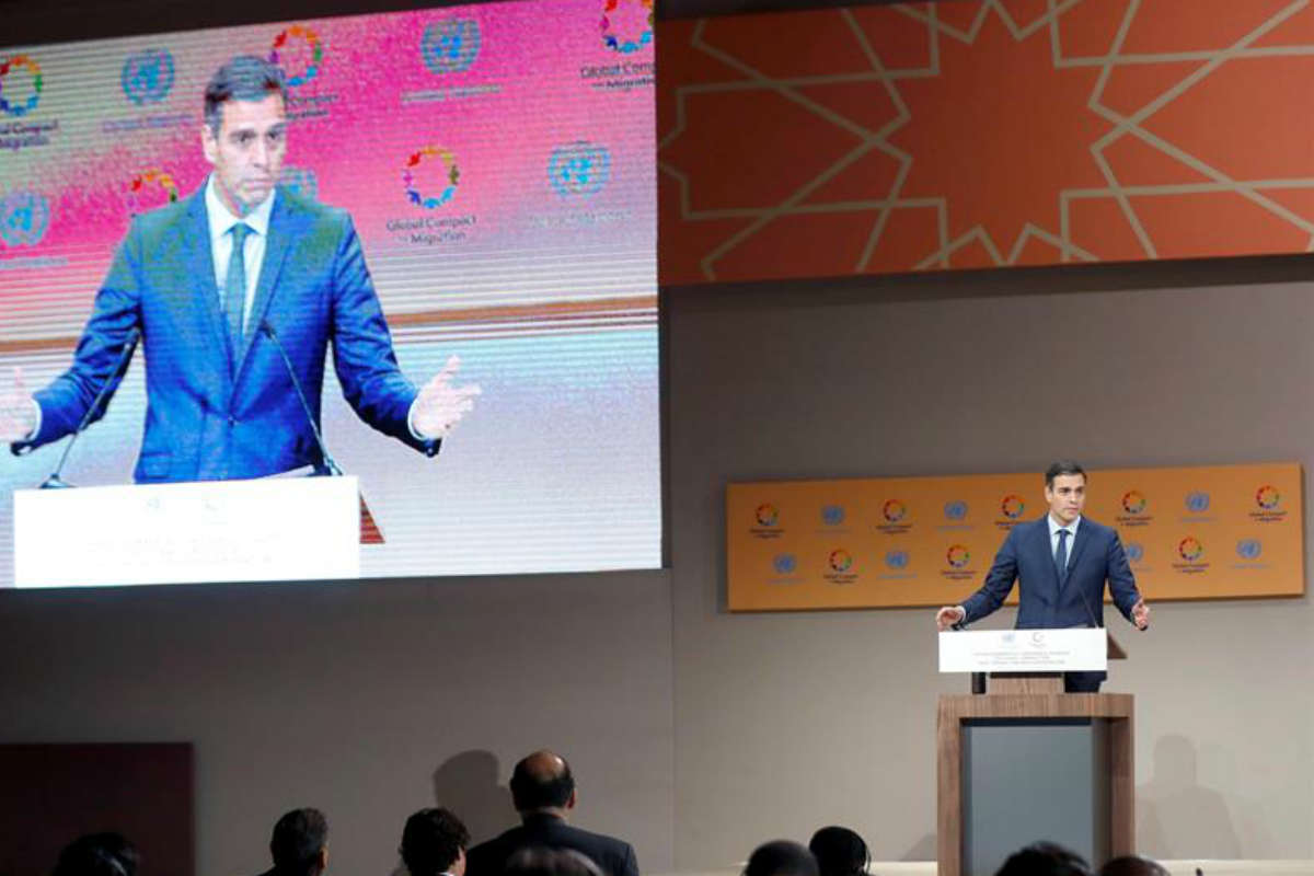 Pedro Sánchez, jefe del Gobierno Español quiere reunirse con AMLO (EFE)