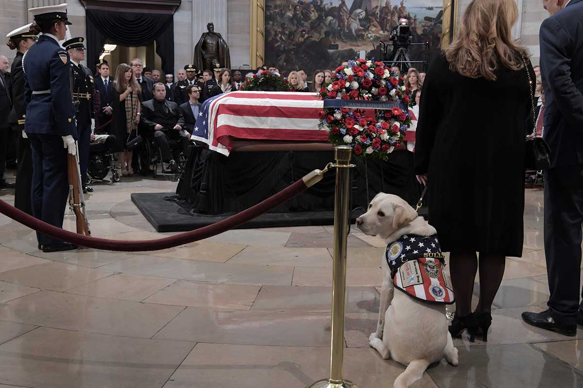 Sully, perro, George Bush, Estados Unidos