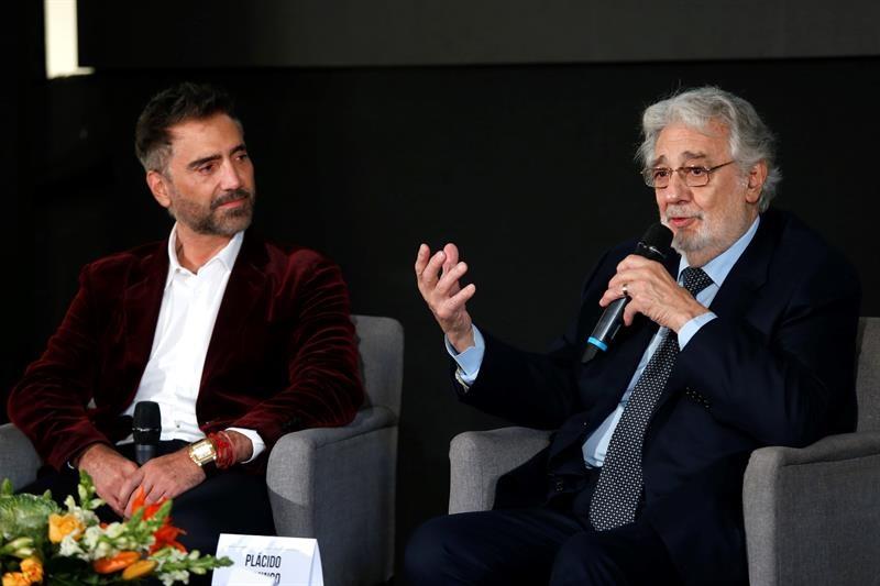 Plácido Domingo y Alejandro Fernández