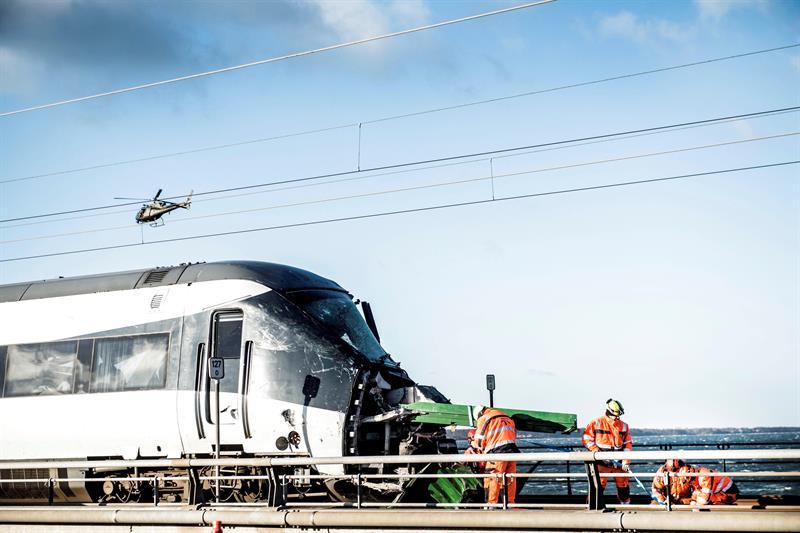 Dinamarca, accidente ferroviario