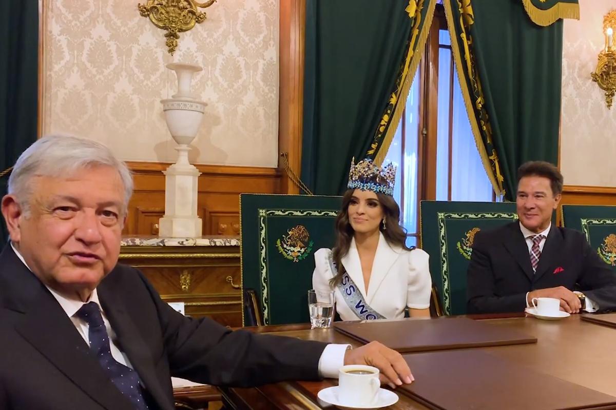Miss Mundo 2018, Vanessa Ponce de León, Andrés Manuel López Obrador, Palacio Nacional,