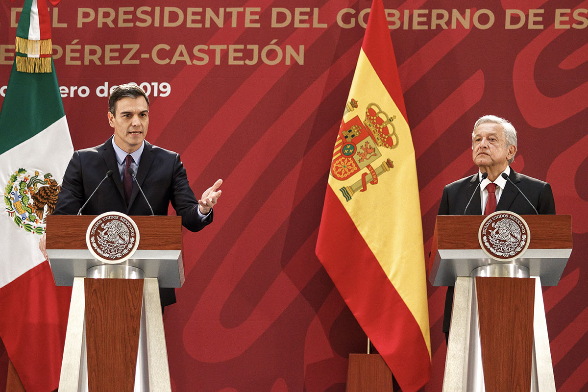 AMLO, López Obrador, Pedro Sánchez, España, Venezuela, relación Bilateral,