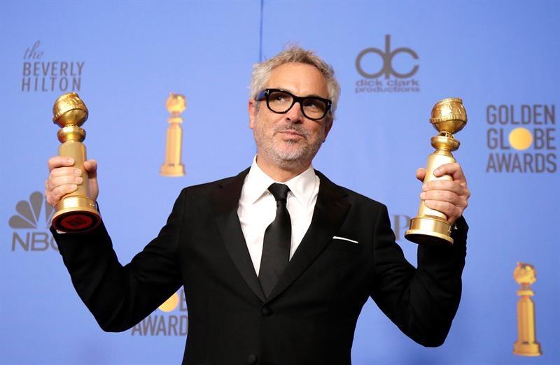 "Con ""Roma"", Alfonso Cuarón ganó dos Globos de Oro./Foto: EFE"