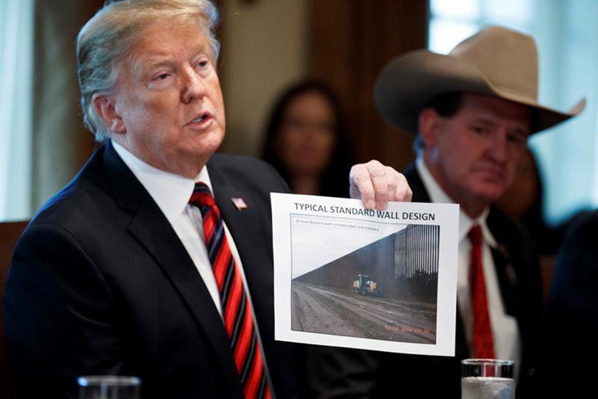 Donald Trump, emergencia nacional, Estados Unidos, Frontera, Caravana Migrante,