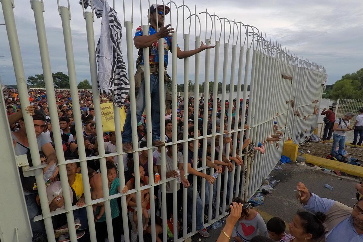 Frontera sur, Caravana Migrante, Alejandro Encinas, Segob, migrantes,