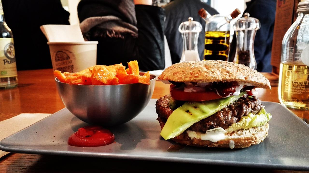 hamburguesa, super bowl, comida rápida