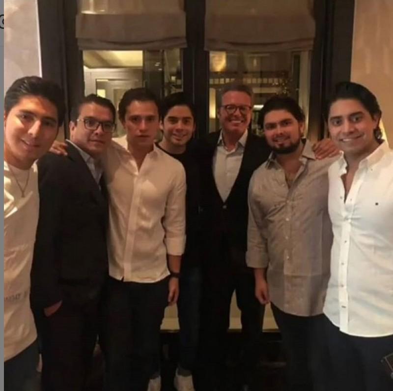 Luis Miguel y el hijo de Peña Nieto