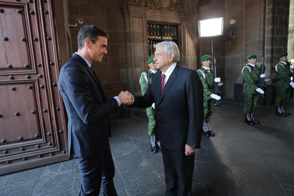Pedro Sánchez , España, AMLO, Palacio Nacional, Visita Estado,