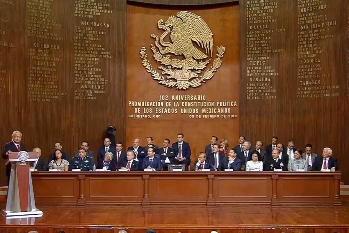 102 Aniversario de la Promulgación de la Constitución, Querétaro, Andrés Manuel López Obrador, Reformas,