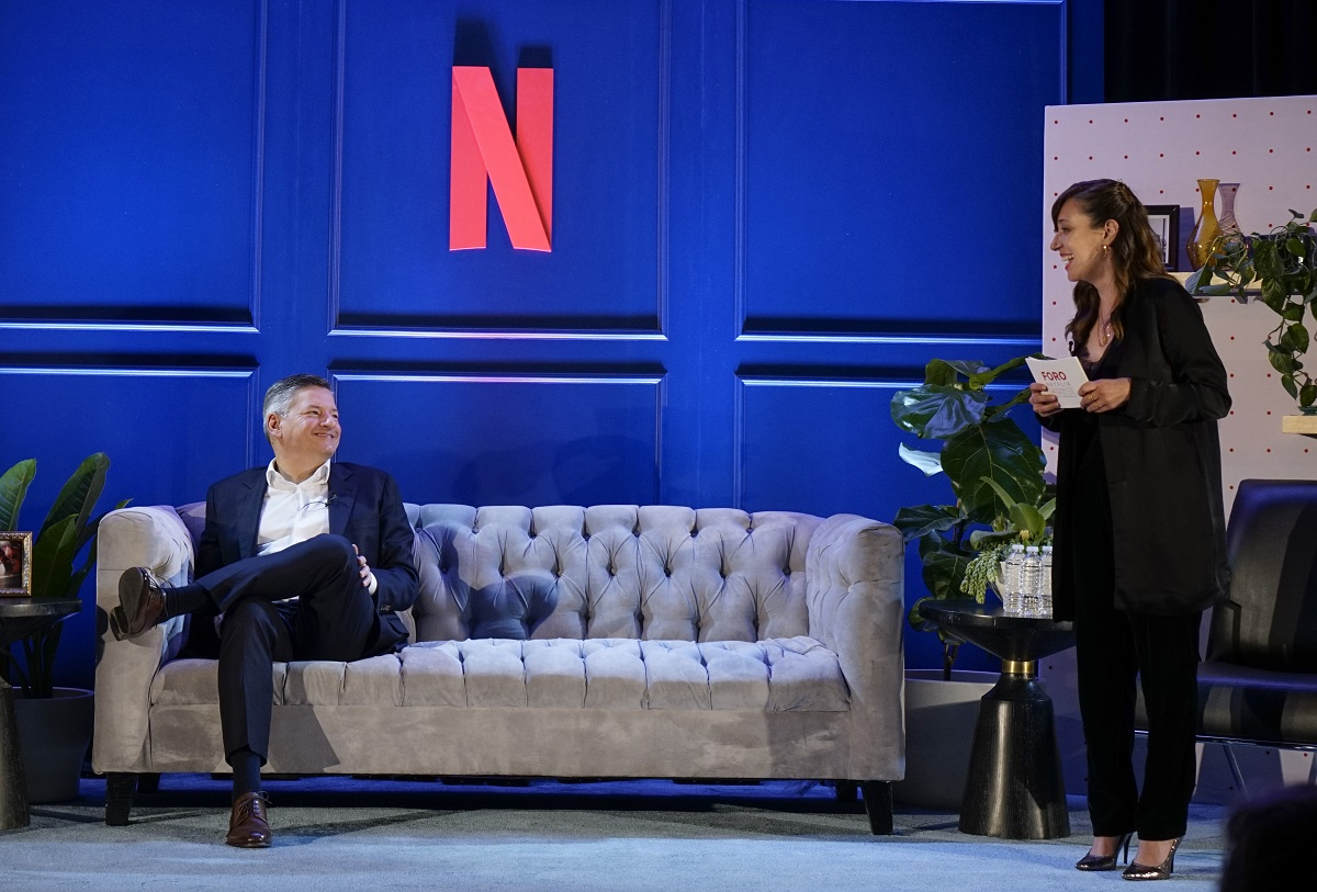 NETFLIX: Ted Sarandos, Mariana Treviño attend the 2019 Foro Netflix in Mexico City, Mexico on Tuesday, Feb. 12. CR: Fernando Vidaurri/Netflix