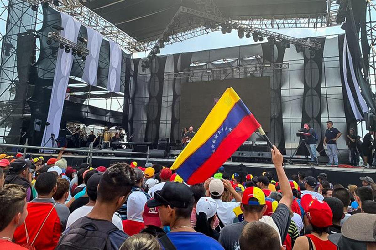 Venezuela, Venezuela Aid Live, Juanes, Alejandro Sanz, Maná, Paulina Rubio, Nicolás Maduro, Juan Guaidó,