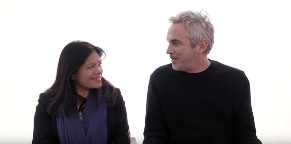 Alfonso Cuarón y Marcelina Bautista