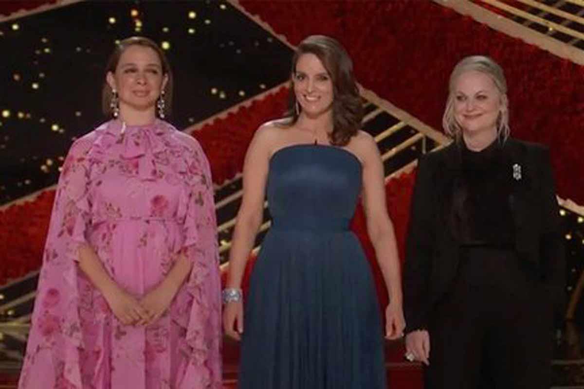 Maya Rudolph, Tina Fey y Amy Poehler en los Oscars