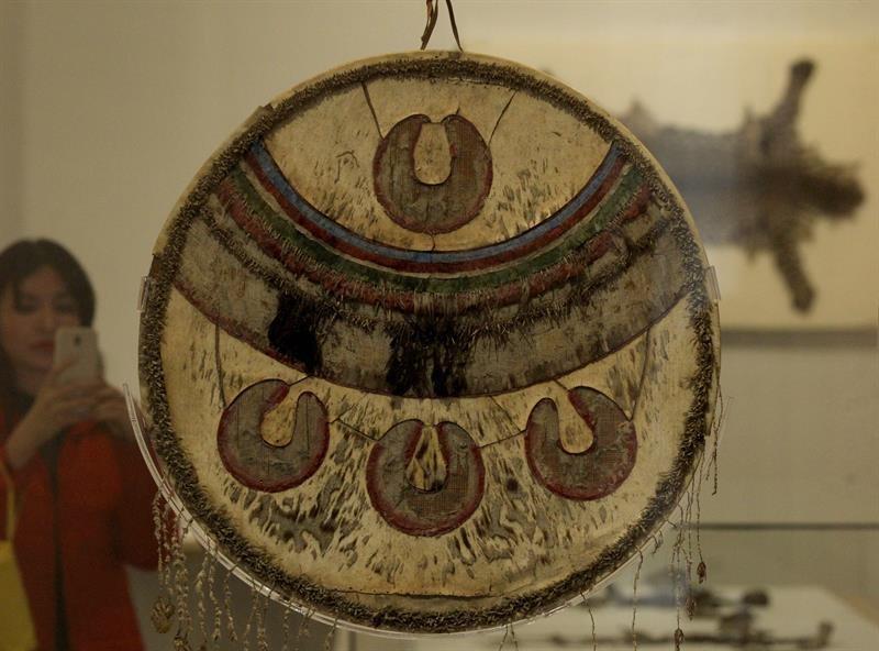 Chimalli, escudo ceremonial mexica/Foto: EFE