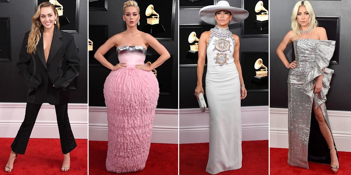 Celebridades en la alfombra roja del Grammy