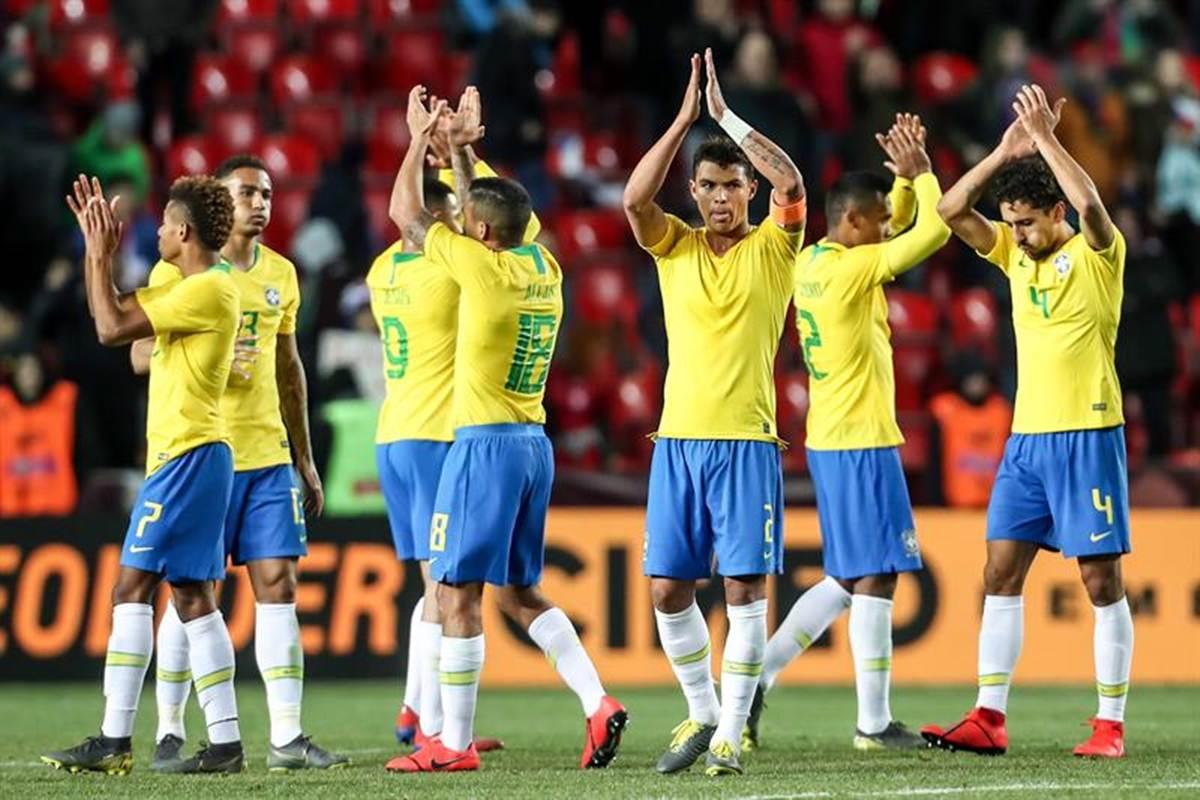 Brasil cierra con triunfo gira europea. Foto: EFE