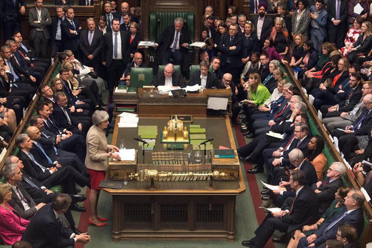 Cámara de los Comunes, Brexit, Unión Europea, primera ministra británica, Theresa May, Reino Unido,
