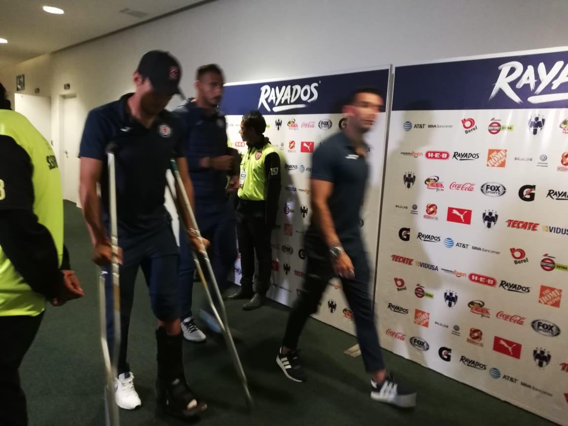 Se lesionó Javier Salas: Foto: Twitter