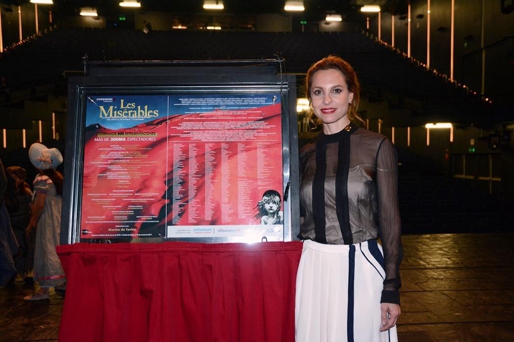 Marina de Tavira develó la placa/Fotos: Ángel Reyes