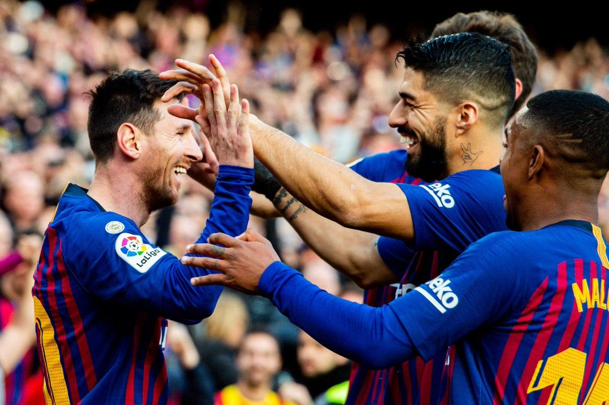 Barcelona le pegó al Espanyol. Foto: Twitter