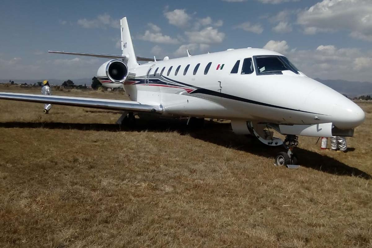 Aeropuerto Toluca, avión privado, Cessna 680 Sovereing,