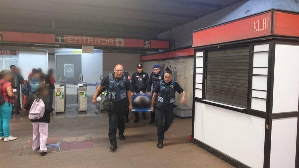 metro, escaleras, Mixcoac