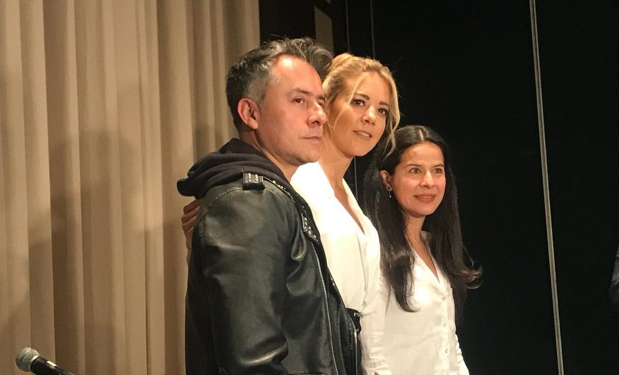"""Fernanda Castillo en la presentación de la obra """"Hermanas""""."""