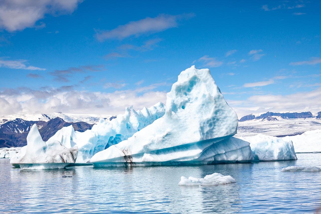 glaciar, deshielo, iceberg