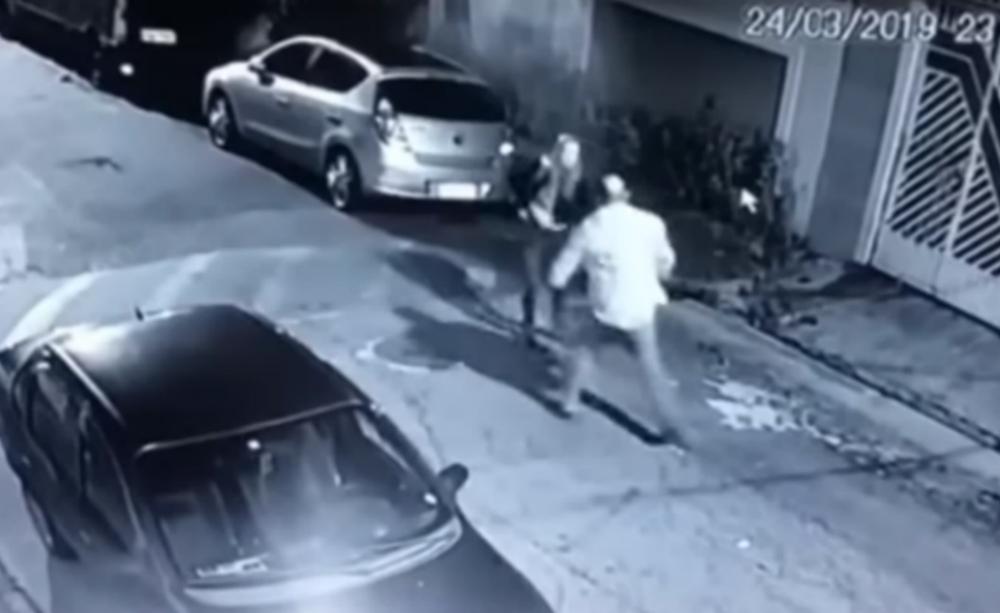 policía, mujer, ladrón, Brasil