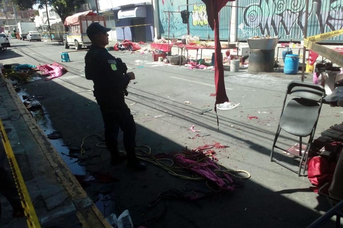 Tianguis, Nezahualcoyotl, tanque de gas, explosión,