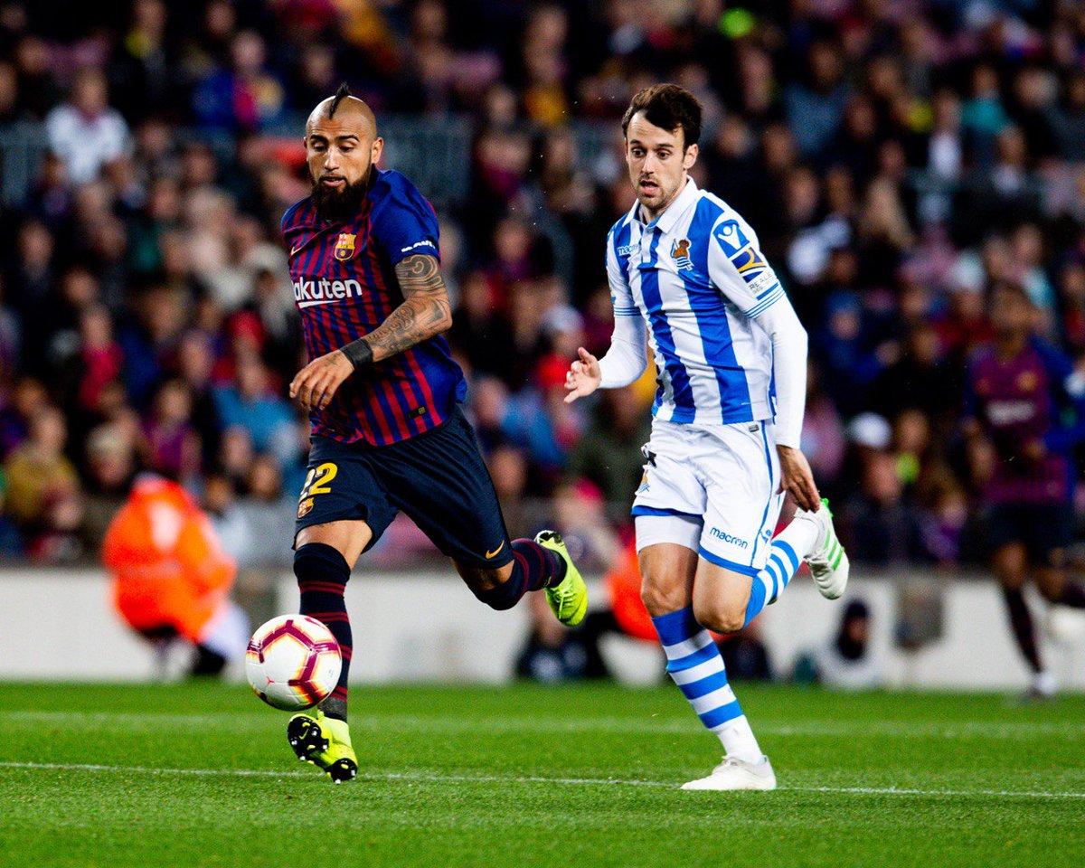Barcelona le pegó a la Real Sociedad. Foto: Twitter