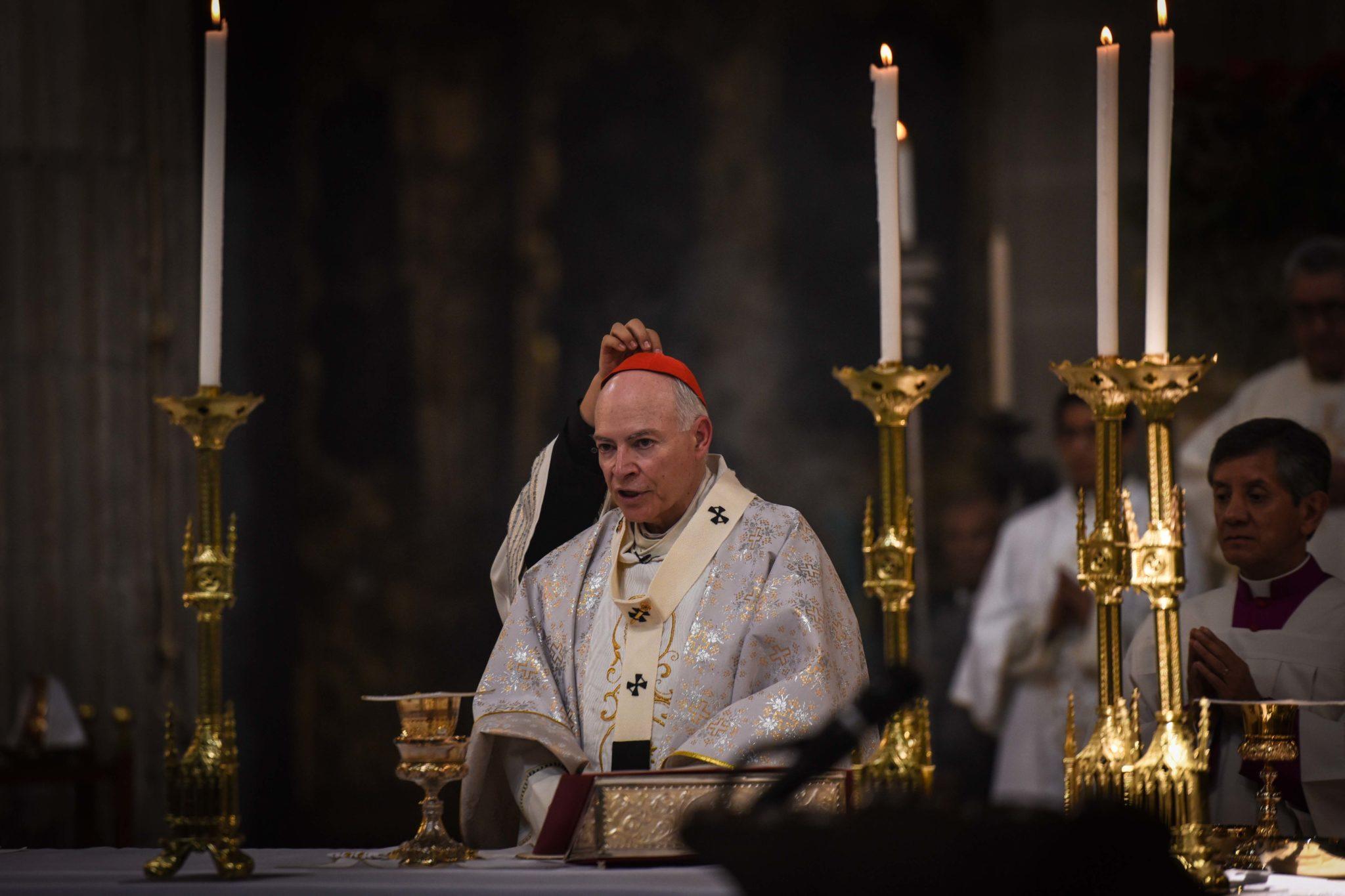 Cardenal, Carlos Aguiar Retes, Misa Crismal, Semana Santa, jueves santo, sacerdotes católicos,