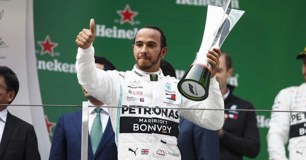 Hamilton ganó en China. Foto: Twitter