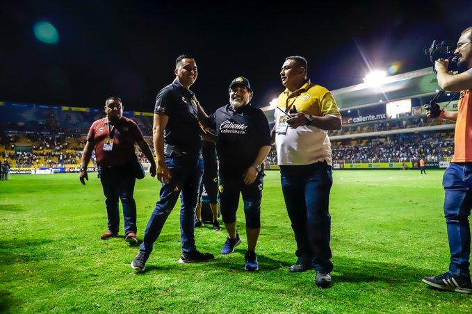 Diego Maradona listo para la final. Foto: Ascenso MX
