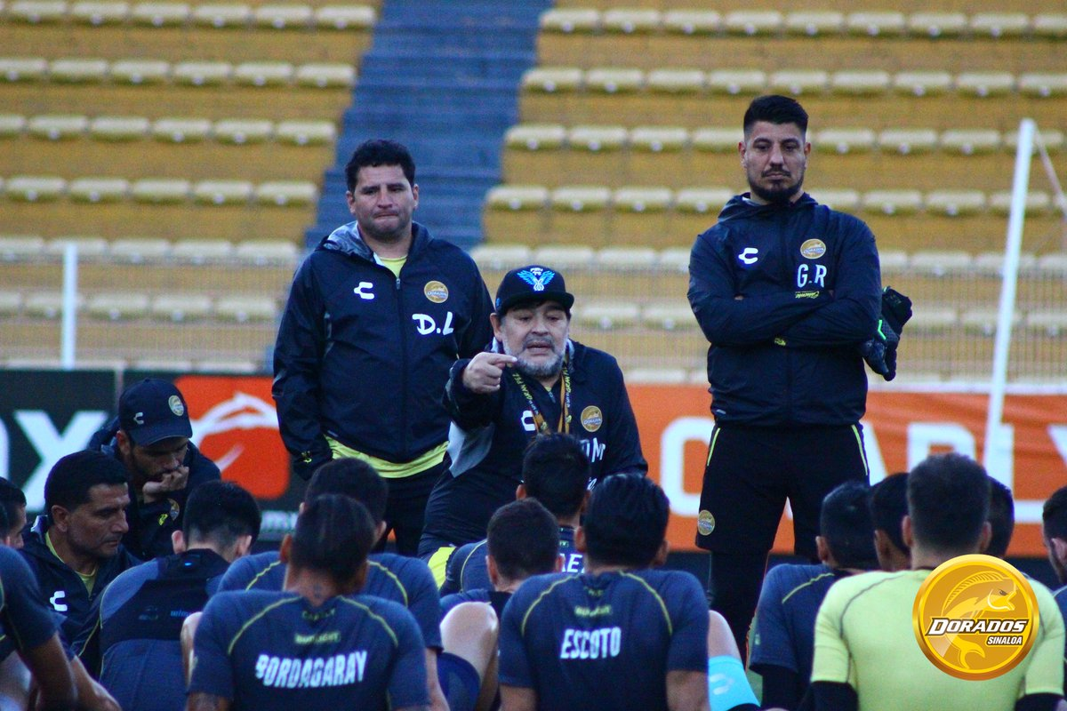 Maradona será sancionado por la Comisión Disciplinaria. Foto: Twitter Dorados