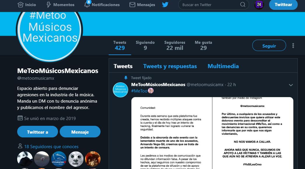 #MeTooMusicosMexicanos