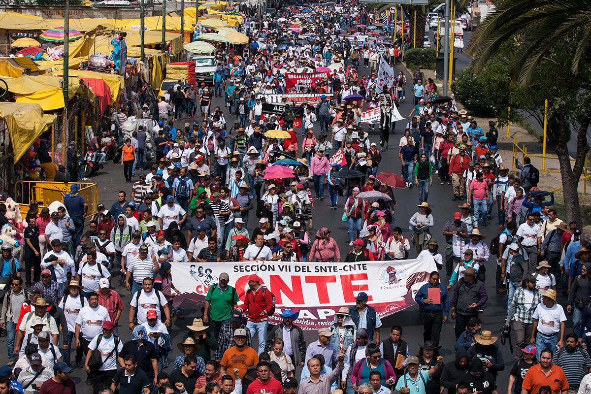 CNTE, Maestros, AMLO, Paro nacional, movilizaciones, Reforma Educativa,