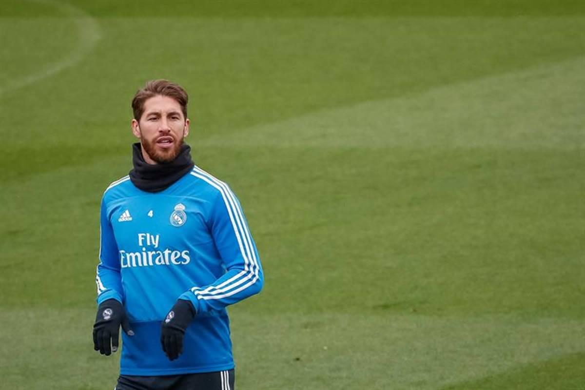Se lesiona Sergio Ramos. Foto: EFE