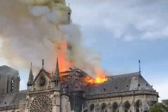 Catedral, Notre Dame, Paris, Francia, incendio,