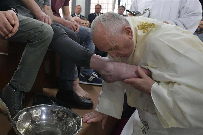Papa Francisco, Jueves Santo, Vaticano, presos, lavado de pies, Roma, Vaticano, Semana Santa,