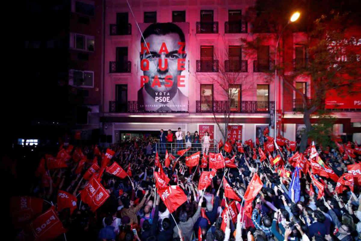 Así celebró el PSOE el triunfo