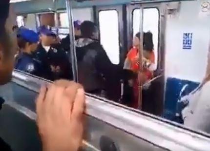 metro, policías, vagoneros
