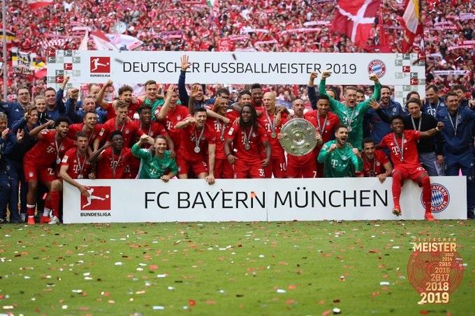 Se corona el Bayern Münich. Foto: Twitter