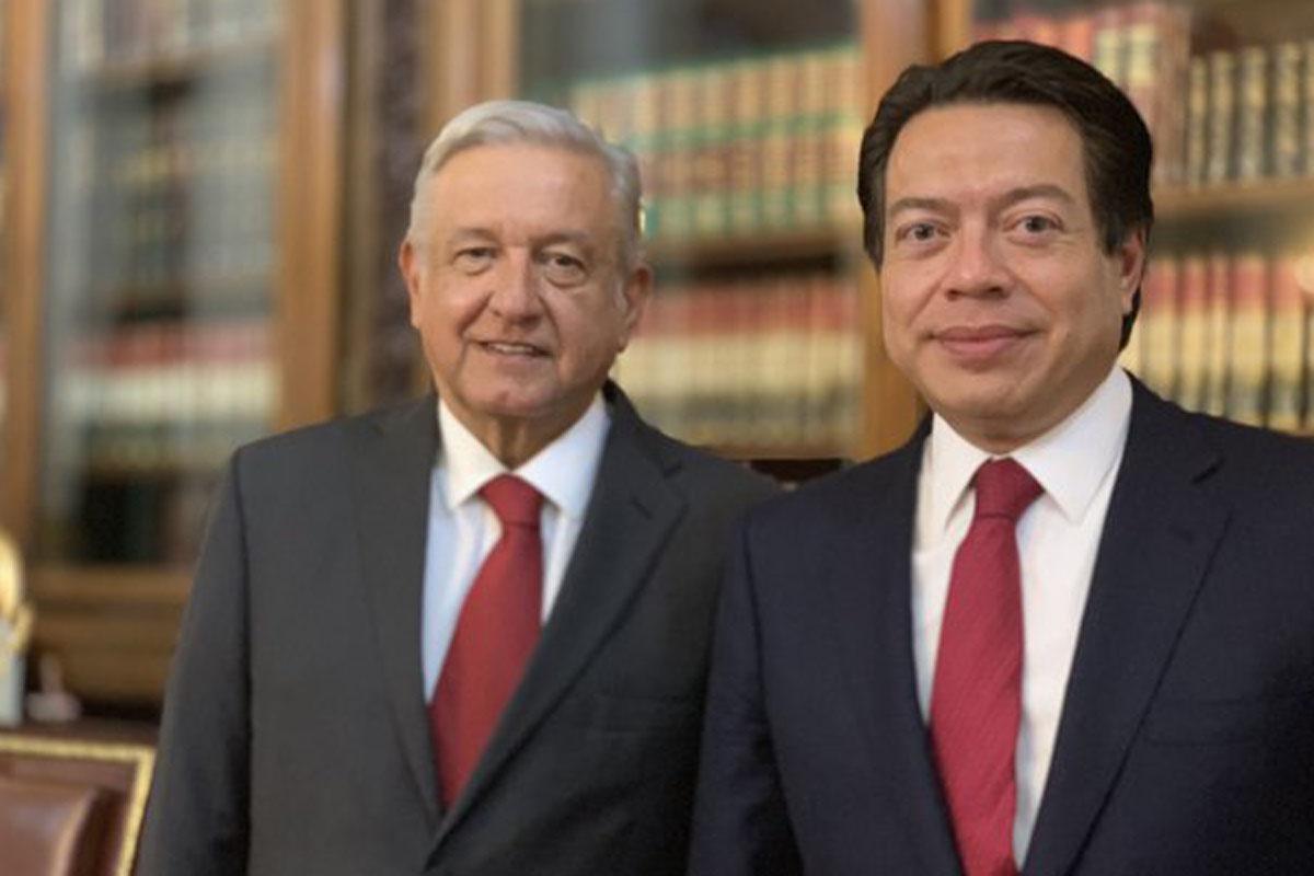 Mario Delgado, Andrés Manuel López Obrador, Palacio Nacional, reformas, Morena,