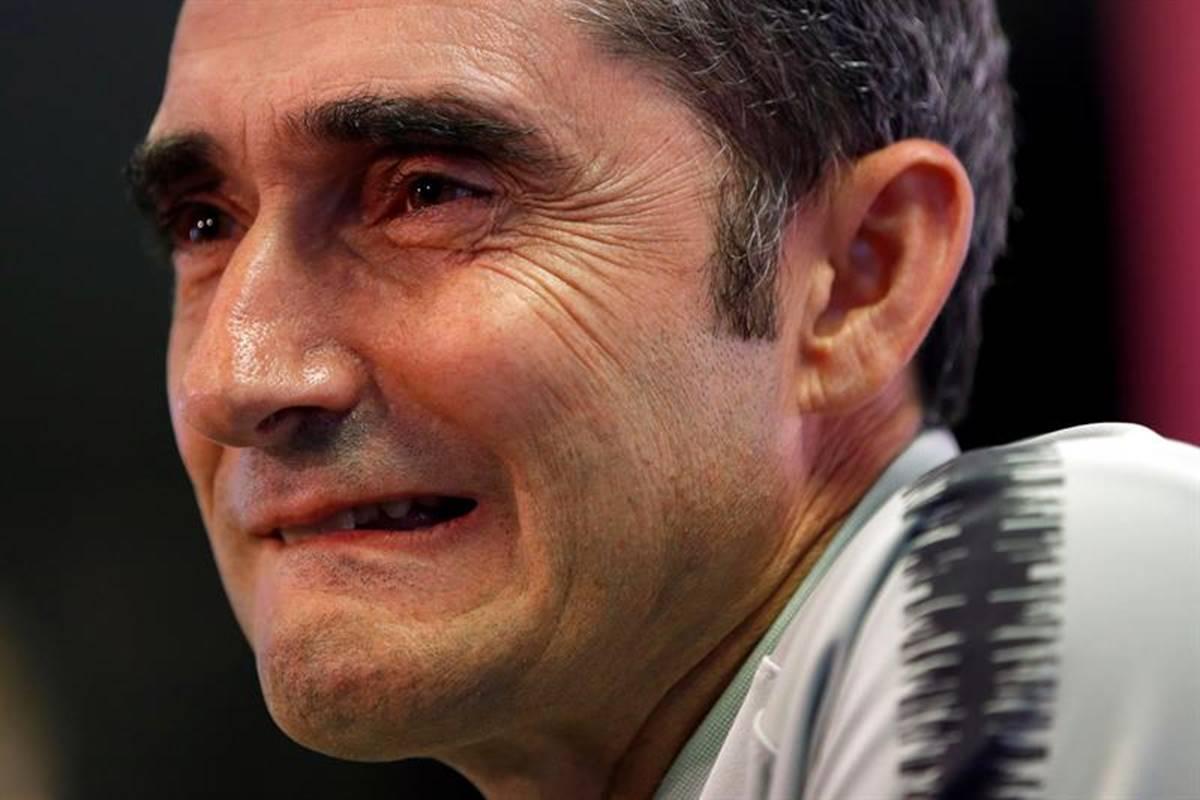 Ernesto Valverde, firme en el Barcelona. Foto: EFE